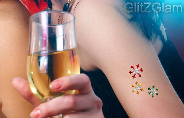 GlitZGlam クリスマス タトゥーで決めよう!