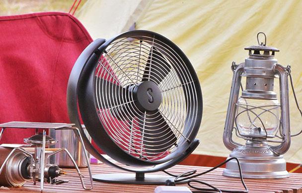 アウトドアで使える本格的な卓上扇風機