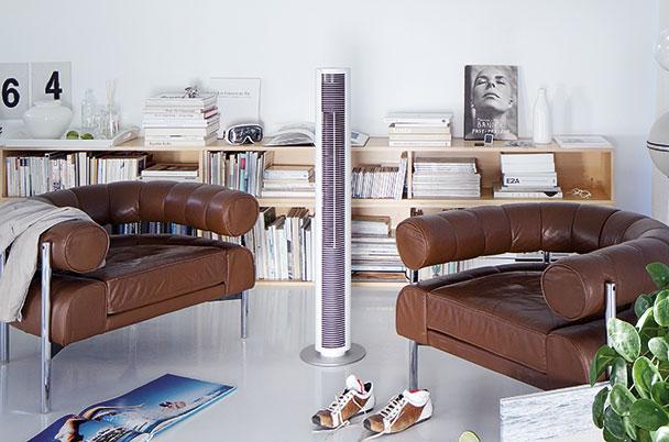 室内の冷房空気を最適化!タワーファンで快適空間!
