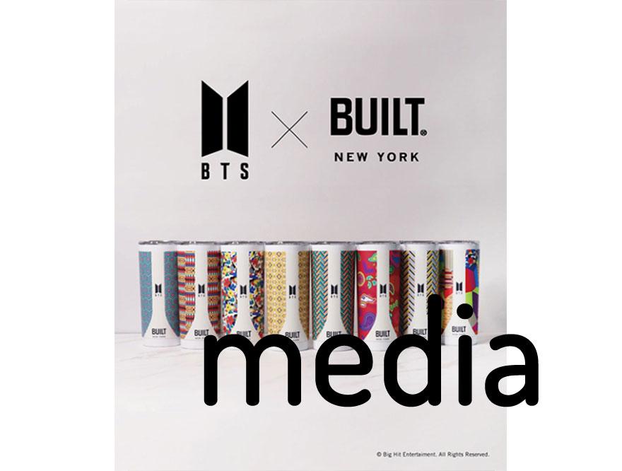 【BTS×BUILT コラボアイテム】BTS公式ファングッズアカウント「HYBE MERCH」掲載情報